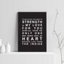 Strength of My Love Print in Black
