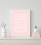 Always Remember - You are Beautiful Print in Blush, with optional Australian-made white timber frame