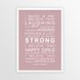 I Believe in Miracles Print in Dusky Pink, with optional Australian-made white timber frame