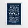 I Believe in Miracles Print in Navy, with optional Australian-made white timber frame