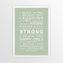 I Believe in Miracles Print in Pistachio, with optional Australian-made white timber frame