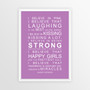 I Believe in Miracles Print in Purple, with optional Australian-made white timber frame