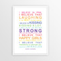 I Believe in Miracles Print in Rainbow, with optional Australian-made white timber frame