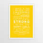 I Believe in Miracles Print in Yellow, with optional Australian-made white timber frame