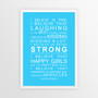 I Believe in Miracles Print in Sky Blue, with optional Australian-made white timber frame