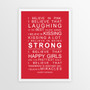 I Believe in Miracles Print in Red, with optional Australian-made white timber frame