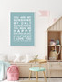 You are My Sunshine Print in Duck Egg, with optional Australian-made white timber frame.