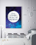 Personalised Loved to the Stars and Moon Print in Space Blue