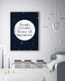 Personalised Loved to the Stars and Moon Print in Midnight Space