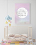 Personalised Loved to the Stars and Moon Print in Pastel Pink