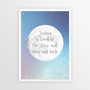 Personalised Loved to the Stars and Moon Print