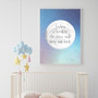 Personalised Loved to the Stars and Moon Print in Pastel Blue