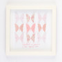 Small butterflies grid in Pink