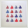 Large Sailing Sensation grid in Red, White and Blue