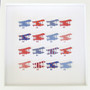 Large Aeroplane Grid Frame in Red, White and Blue
