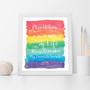 I'll Always Remember My Favourite Teacher Appreciation Wall Art Print in Rainbow