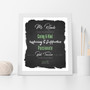 The Best Teacher Appreciation Wall Art Print in Black