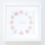 "Large (14"" x 14"") Shooting Stars - Circle - Frame in Pink"