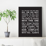 Star Wars movie quotes wall art print