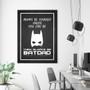 Always Be BatDad Chalkboard Print in optional Australian-made black timber deep rebate frame