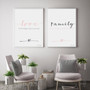 Love Instant Digital Downloadable Print, shown together with Family Instant Digital Downloadable Print