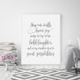 May Our Walls Know Joy Wall Art Print in Elegant Font