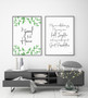It's so Good to be Home Botanical Wall Art Print, shown with May Our Walls Know Joy Print in Modern Font
