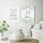 It's so Good to be Home Botanical Wall Art Print, shown with May Our Walls Know Joy Print in Elegant Font