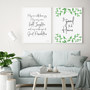 It's so Good to be Home Botanical Wall Art Print in Modern Font, with May Our Walls Know Joy Print