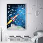 Watercolour Space Numbers Educational Print
