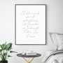 Two Souls in Love Forever Wall Art Print, with optional black timber frame