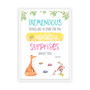 Roald Dahl - Tremendous Things are in Store for You Wall Art Print in optional white timber frame