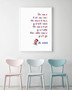 Dr Seuss - The More That You Read Inspirational Wall Art Print in optional white timber frame.