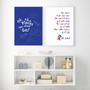 Dr Seuss - The More That You Read Inspirational Wall Art Print in optional white timber frame, shown with Dr Seuss Adventures Wall Art Print