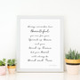 You are Beautiful, Brave and Fierce Wall Art Print in Monochrome, with optional Australian-made white timber frame