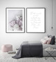 Peony Love Photographic Wall Art Print, shown with Two Souls in Love Forever Wall Art Print