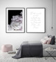 Peony Noir Photographic Wall Art Print, shown with Two Souls in Love Forever Wall Art Print