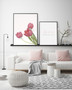 Perfect Love Tulip Photographic Wall Art Print, shown with Love with All Your Heart and Soul Print