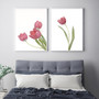 Perfect Love Tulip Wall Art Print, with optional Australian-made white timber frame. Shown with Simplicity Tulip  Print.