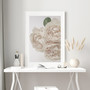Unforgettable Rose Photographic Wall Art Print in Peach Monochrome, with optional Australian made white timber frame.