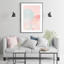 Blush Mountain Moonlight - Abstract Watercolour Wall Art Print