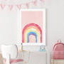 Rainbow Blush - Abstract Watercolour Wall Art Print
