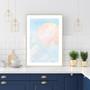 Blue Mountain Sunrise - Abstract Watercolour Wall Art Print