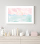 Serenity Sunrise - Abstract Watercolour Wall Art Print in optional Australian-made white timber frame