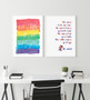 Life is Better with Love and Laughter - Free Digital Print (shown with Dr Seuss - The More that You Read Print