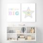 Blue Rainbow Pastel Star - Instant Digital Downloadable Print, shown with Dream Big Print.