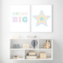 Dream Big - Free Digital Print, shown with Rainbow Star (Pastel Blue) - Instant Digital Downloadable Print