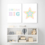 Dream Big - Free Digital Print, shown with Rainbow Star (Pastel Pink) - Instant Digital Downloadable Print