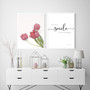 Because of Your Smile You Make Life More Beautiful - Free Digital Print, shown with Perfect Love Tulip Print