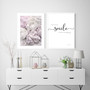 Because of Your Smile You Make Life More Beautiful - Free Digital Print, shown with Peony Bloom Print